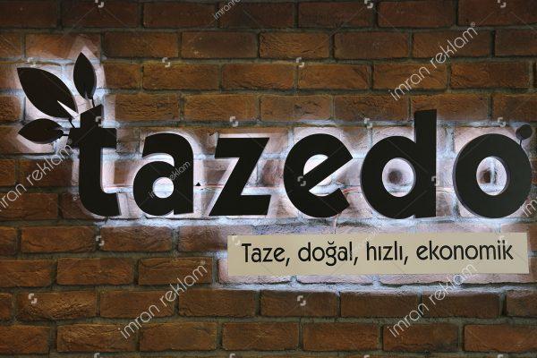 Tazedo Alüminyum Kutu Harfli Tabela
