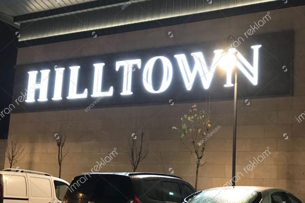 Hilltown Alüminyum Kutu harfli Tabela