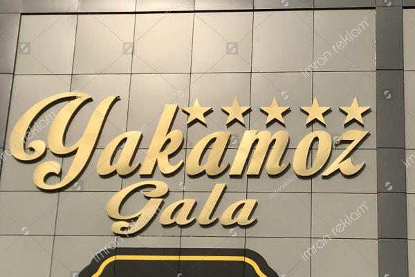 Yakamoz Gala Gold Paslanmaz Kutu harfli Tabela