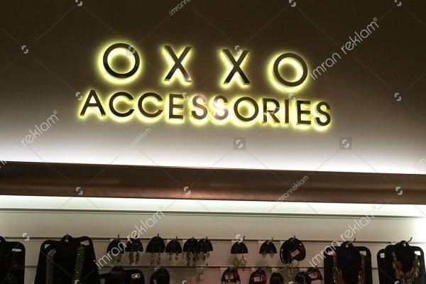 Oxxo Accessories Paslanmaz krom kutu Harfli Tabela