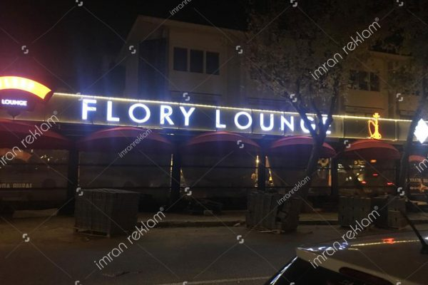 Flory Lounge Paslanmaz Krom Kutu Harf Tabela